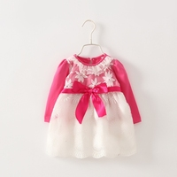 New Children Girls Boutique Clothing For 4 Years Old Girl Pink Child Princess Dresses