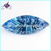 Glamorous Marquise Shape Aqua Blue Cubic Zirconia Beads
