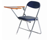 strong PU folding conference chair with tablet1084B