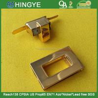 New Arrive Rose Gold High Gloss Lock buckles For handbag --- BK1552