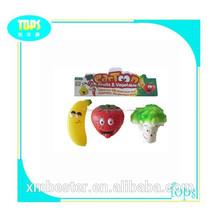 barato de promoción coloridos juguetes de frutas