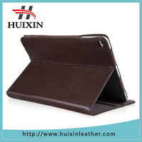 Genuine leather folio design case with multiple position stand for Apple iPad Air 2