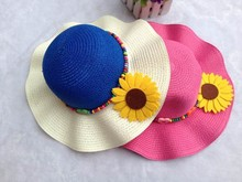 C84738A 2015 new fashion girl's straw hats