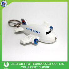 Cute Plastic Led Logo Airplane Sound Keychain For Promotion