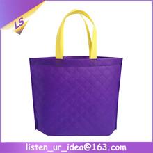 Hot Reusable trade plaid non woven bag for shopping