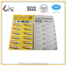 super cyanoacrylate adhesive glue for shoes/metal/packing/woodworking