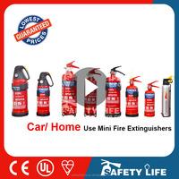0.5kg mini portable ABC dry powder fire extinguisher for car/vehicle/kitchen