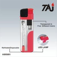 TAJ Brand transparent led lighter