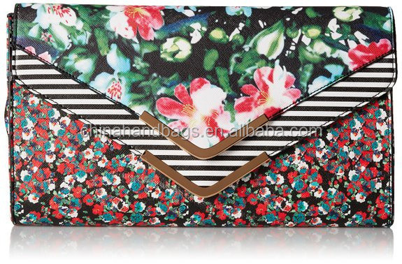 colorful pattern design flowers evening bag india envelop style for women