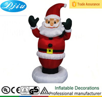 DJ-153 5ft standing disc black hands santa claus outdoor inflatable christmas decoration