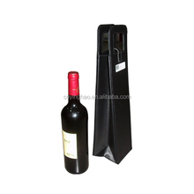 Custoized desigh High Quality Portable Leather Wine Carrier