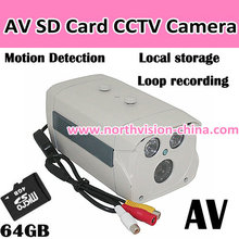 SD card cctv dvr with motion detection and AV/TV out function