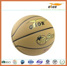 laminated indoor outdoor bubber basketballs