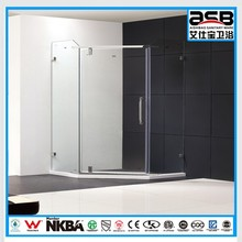 wholesale price 6mm Tempered Glass shower screen with hinge door