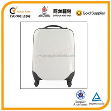 Hot sale style white color lightweight luggage