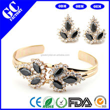 copper alloy bracelet set and earrings set for woman jewelry factory
