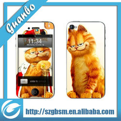 Lovely cat shaped Decor Mobile Phone Crystal Sticker Skin