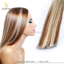 beauty works supplier water proof wholesale virgin remy cheap double drawn 100% european hair tape hair extension