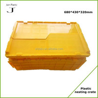 Nesting large plastic storage containers with lids