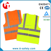 CE EN471 high visibility reflective safety traffic vest warning workwear work vest