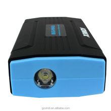 Voiture jump starter pour 12 V voitures haute capacité avec strobe lumière banque d'alimentation pour ordinateur portable