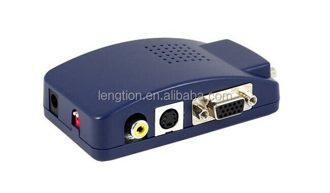 PC VGA to AV TV RCA Composite S-Video Adapter Converter Switch Box Laptop Notebook to TV
