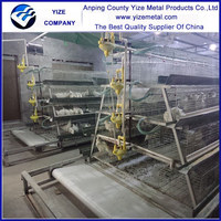 A type layer broiler chicken cage steel structure chicken house popular in kenya , Uganda, Nigeria , Mozambique,south africa