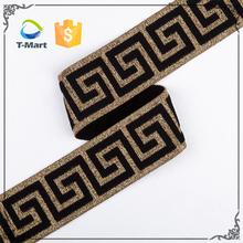 Wholesale Textile Decorative Jacquard Spandex Color Fabric Elastic Band