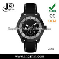 JA398 alloy high quality swistar PU leather watches for men