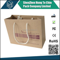 Packing Factory reusable foldable paper shopping bag / cheap paper shopping bags