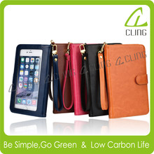Luxury Leather Wallet Case For iPhone 6 Plus Mobile Phone Case/For iPhone 6 Plus Case Cover