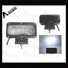 "4D rectangle led driving light 5.7"" 4D lens led work light, 40W 4D Reflector LED Work lamp for 4X4 off Road"