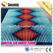 Various clubs can be used by LED digital video lighted dance floors