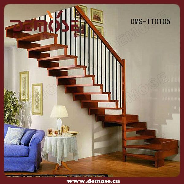 Madera moderno escaleras pasamanos y cerca de madera barandillas y ...