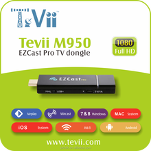 HOT Selling Smart TV Ezcast Pro 4 to 1 split-screens display HDMI Dongle support Miracast DLNA Airplay iOS Mirroring WiFi