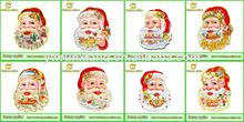 Escarcha 3d pegatinas de pared de navidad, feliz navidad etiqueta de la pared, moderno para el hogar artículos de decoración,