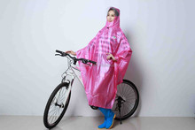 Promotional poncho raincoat rain cape with hood for women
