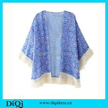 New aririval Women Tops Women Blouse Summer Top Kimono Printed Fashion blusas