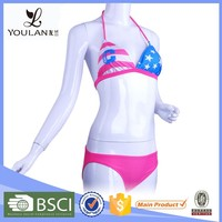 China Pretty Hanging Colorful Swimsuit Women Bikini Sexy Black Nude White