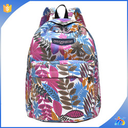 2015 fashion canvas college backpack