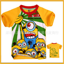 2015 lovely clothes for 1-3 year old boys fashion baby boys Despicable me t-shirt