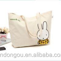 Cheap 100% Cotton Custom Printed Beach Canvas Bag For Tote Bag