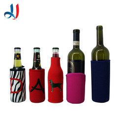 embroider latter glass bottle cover for beer wine