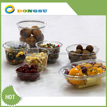 2014 Hot sale disposable 360ml PET Plastic Salad Bowl Deli Container
