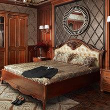2014 nuevo diseño más reciente contrachapado precio sólido cama doble de madera