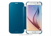 Mirror Clear View Cover Flip Phone PC Hard Case For Samsung Galaxy S6 Edge