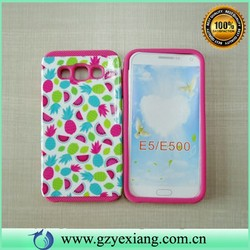New arrival Mobile Phone Case PC and Silicon Hybrid Combo phone Case for Samsung Galaxy E5 E500
