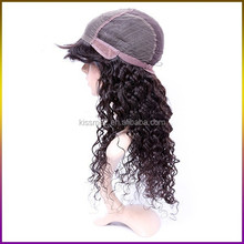 African American real tangle free human hair wig womens toupee