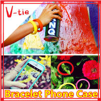 Top sale new items!! Univesal silicon anti-dust design bracelet mobile phone cover for q