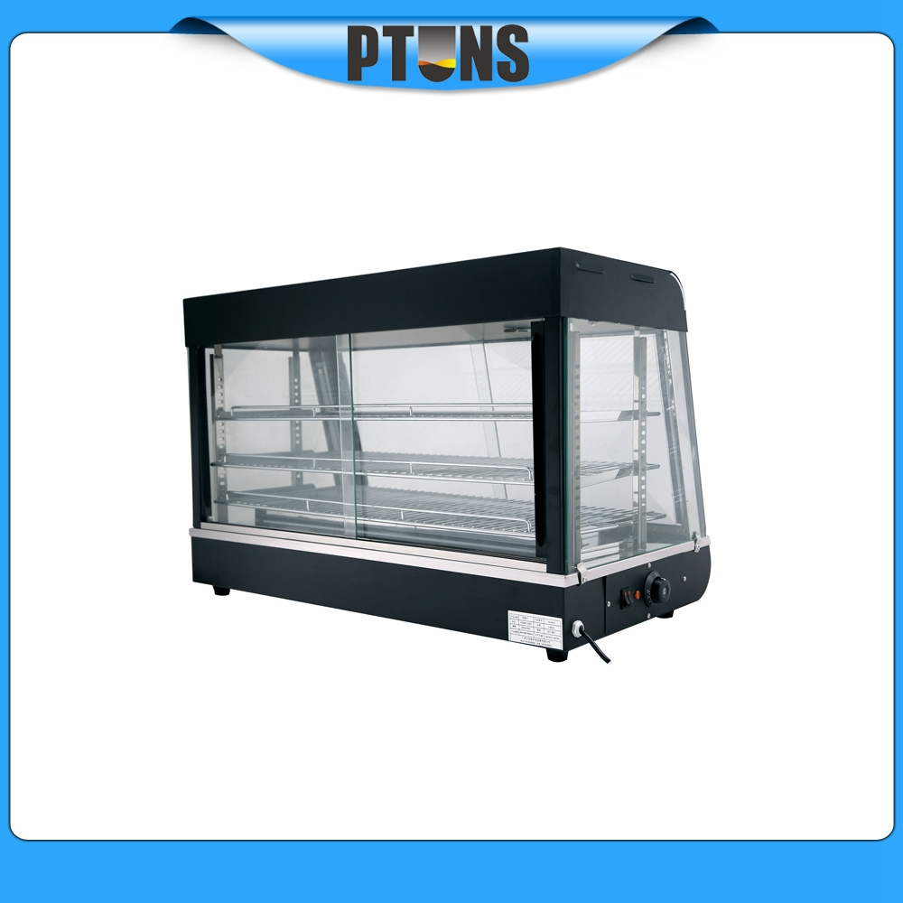 Glass Food Warmers ~ Promotion new glass food warmer display showcase with